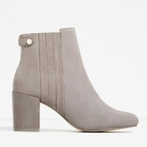 ZARA 100% LEATHER ANKLE BOOTS BRAND NEW